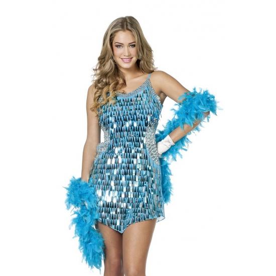 7b784894c578ae Feestkleding pailletten jurk aqua zilver bij Kostuum Voordeel altijd ...